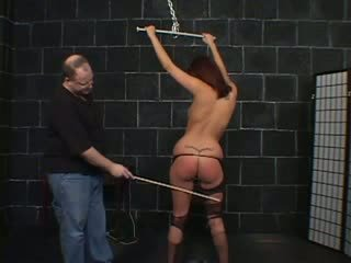 Slave girl suck dick of fatty guy
