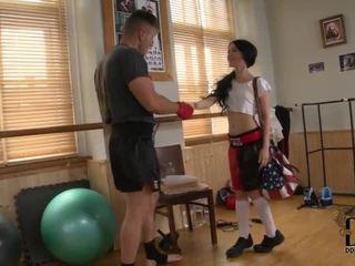 Sandra Luberk goes to learn martial arts