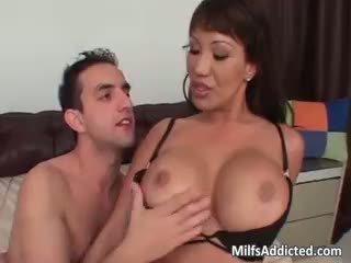 brunette all, big boobs, interracial