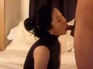 Hot Beautiful Asian sucking Dick and fucked