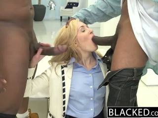 Blacked 2 גדול שחור dicks ל עשיר לבן נערה