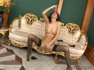 Ispido testa doxy leanna dolce enjoys un thick giocattolo bumping in suo dolce sveltina