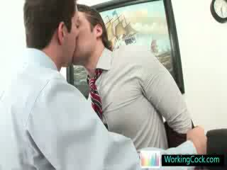 Andrew getting his cock worked on at the office by workingcock