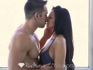 HD PureMature - Sexy milf Amber Cox fantasizes about big cock