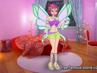 Winx kelab lesbian kanak-kanak perempuan lucah parodi