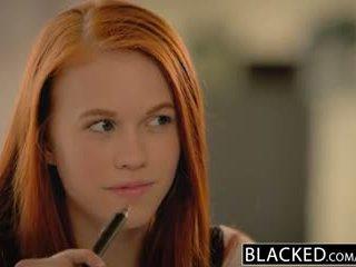 Blacked i parë i madh e zezë kokosh për adoleshent dolly pak