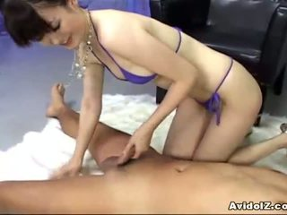 Ai Himeno loves cock tease and group masturbation