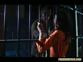 Stuck Behind Bars In A Prison For Whore Taylor Rain Is Forced To Watch