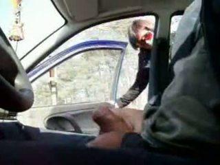 Flashing His Dic In The Car