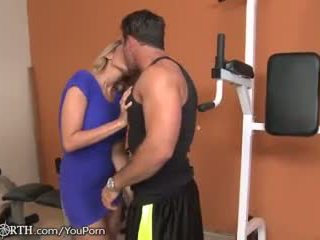 Stepmom Seduces her Son at the Gym