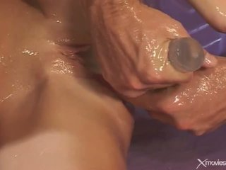 Two Dildos Pump Hillary Scott's Oily Holes