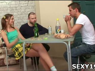 Chick performs fellatio