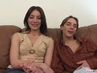 Porn star couple interview Husband blasts wifes face with a huge load