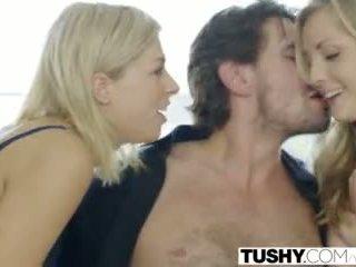 TUSHY Step Sisters Karla Kush and Zoey Monroe First Anal