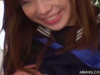 Cute Japanese schoolgirl fucked at home