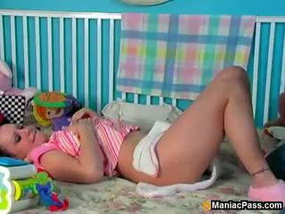 Diaper cutie getting fucked