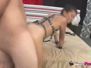 Black haired babe fingers her tight pussy