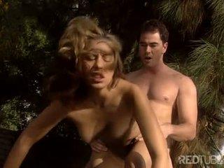 Sweet Jennifer Luv pussy fucked outside