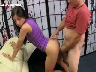 Sleeping step daughter fucked hard