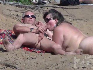 žįsti, voyeur, paplūdimys, blowjob