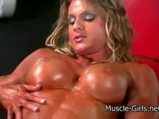 Horny muscle girl massive female bodybuilder ripped strong b