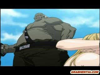 Hentai Princess brutally groupfucked by ghetto monsters