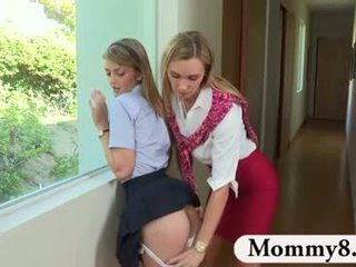 Mature piano teacher sees a slut in this teen