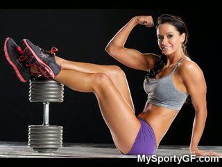 Fitness babes και μυώδης gfs!