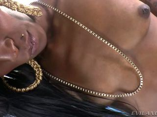 Attractive Tranny Nyla Melrose Strokes Her Cock Passionately