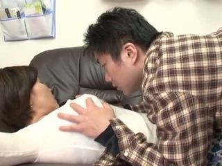 Drunk Japanese Mother Gets Abuse By Her Boy