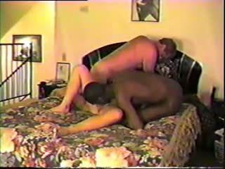 Husband share his wife with black bull