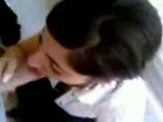 Turks meisje met heet boezem giving hoofd