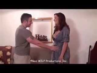 Mother Rachel Steele plays condom play with son