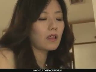 Hot milf Manami Komukai best blowjob ever!
