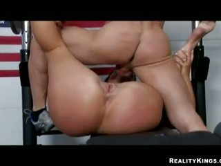 Raunchy babe Corina Jayden geting her huge ttits creamed with hot man jam