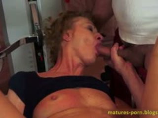 ideal granny film, real blowjob, anal fuck