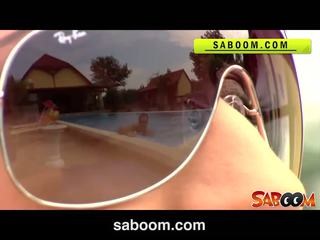 Roxy taggart gets zajebal na the poolside pri saboom