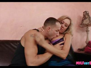 Smoking Blonde Mom gets a Long Dick, Free Porn 1d