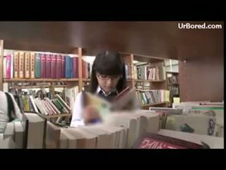 foré, écolière, geek, library