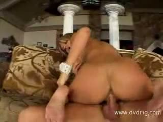 Extraordinary Blonde Pornstar Tyla Wynn Shakes Hard On Top Of Big Cock Filling Her Tight Butthole