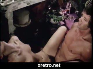 레트로 포르노를 영화 와 lots 의 털이 많은 고양이