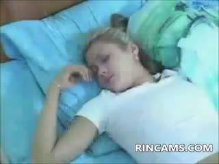 webcam, pijpbeurt, blond, amateur
