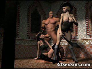 Demons Fuck 3D Girls!