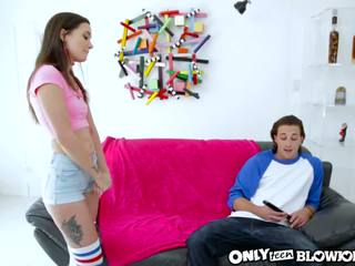 OnlyTeenBlowjobs The Slutty Younger Teen Sister