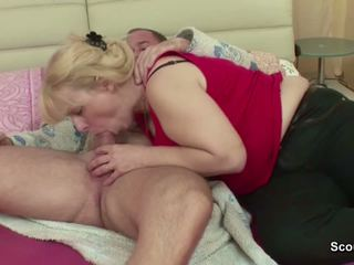 Step-mom Wake Him up with Blowjob and get Fuck Anal...