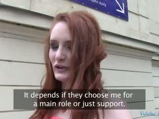 Public Agent - Redhead Teen Fuck In Car Park (HUUU)