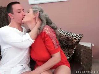 Boy loves hot busty granny