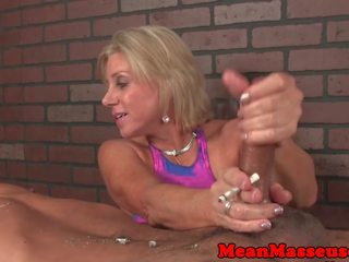 Dominant giống cọp ở my masseuse dominates khách hàng: miễn phí khiêu dâm 41