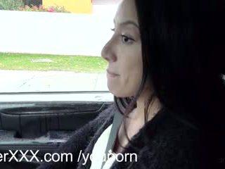 Driverxxx hot little burungpun earns her a ride