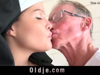 Old man makes young monastery monah fornicate
